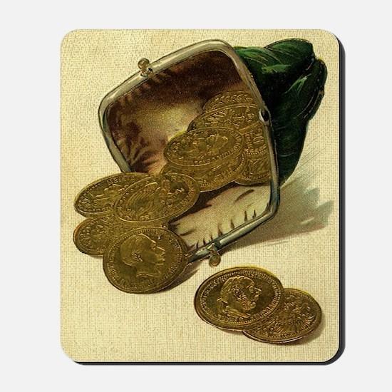 Vintage Gold Coins Mousepad