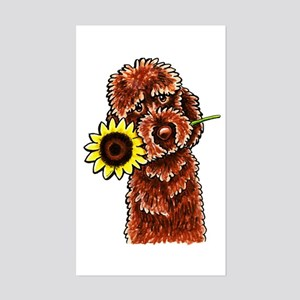 Sunny Chocolate Labrodoodle Sticker