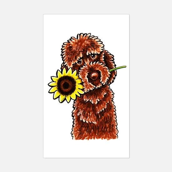Sunny Chocolate Labrodoodle Decal