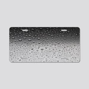 Water drpos Aluminum License Plate