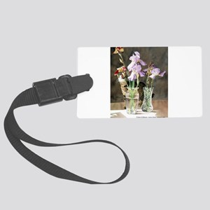Cat with Iris Luggage Tag