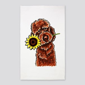 Sunny Chocolate Labrodoodle 3'x5' Area Rug