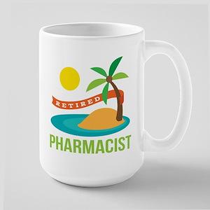 Retired Pharmacist Gift Large Mug
