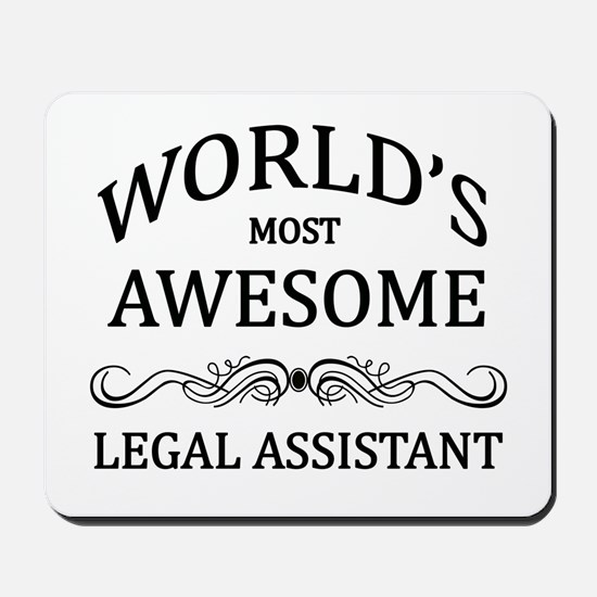 World's Most Awesome Legal Assistant Mousepad