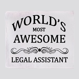 World's Most Awesome Legal Assistant Throw Blanket