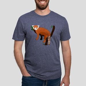 Red Panda Mens Tri-blend T-Shirt