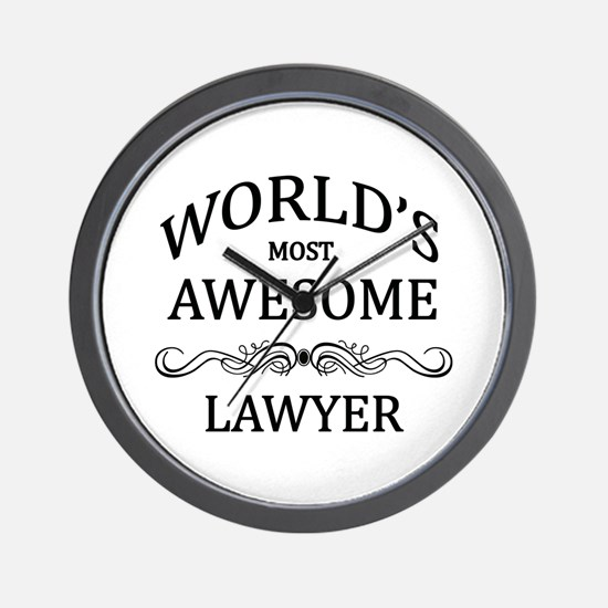 World's Most Awesome Lawyer Wall Clock