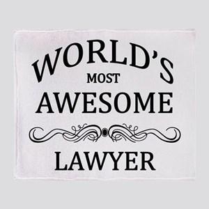 World's Most Awesome Lawyer Throw Blanket