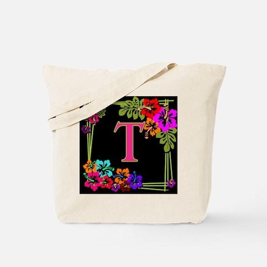 Monogram A to Z Tropical Tote Bag