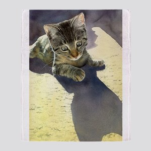 Feline Fascination Throw Blanket