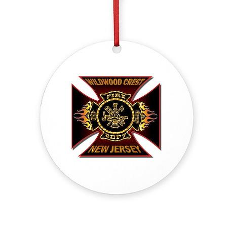 Wildwood Crest Fire Ornament (Round)