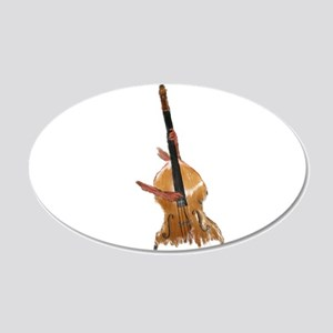 upright bass and hands Wall Decal
