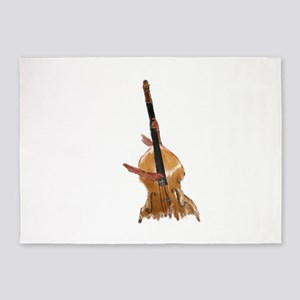 upright bass and hands 5'x7'Area Rug
