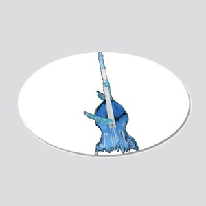 upright bass and hands blu Wall Decal