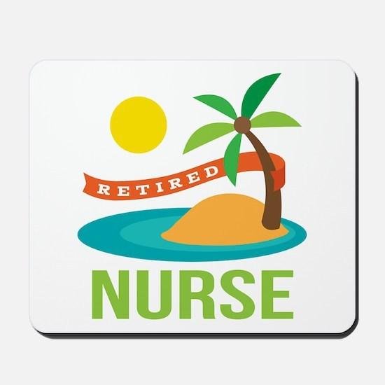Retired Nurse (tropical) Mousepad