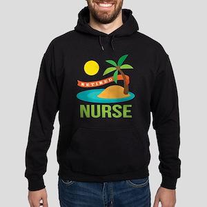 Retired Nurse (tropical) Hoodie (dark)