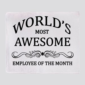 World's Most Awesome Employee of the Month Throw B
