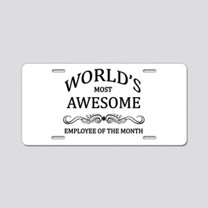 World's Most Awesome Employee of the Month Aluminu