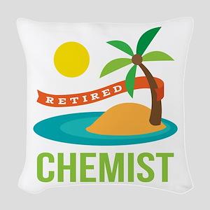 Retired Chemist Woven Throw Pillow
