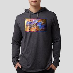 Chicken! Animal art! Mens Hooded Shirt