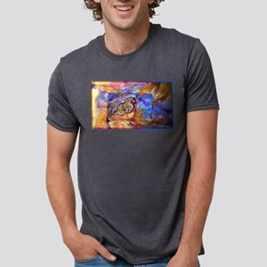 Chicken! Animal art! Mens Tri-blend T-Shirt