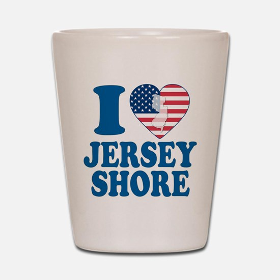 I love jersey shore Shot Glass