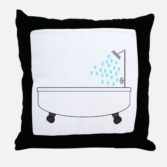 Bathtub Throw Pillow
