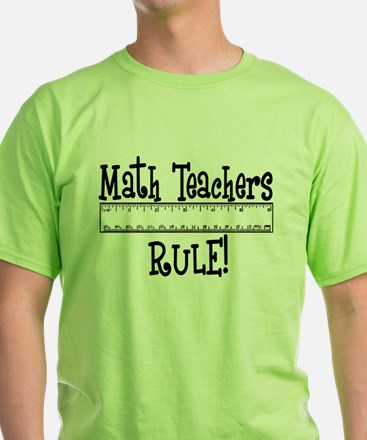 Math Teachers Rule! Funny T-Shirt