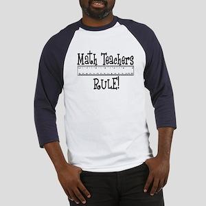 Math Teachers Rule! Funny Baseball Jersey