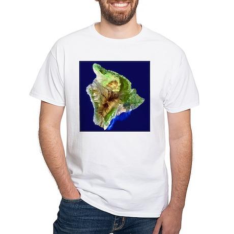 Big Island from Landsat White T-Shirt