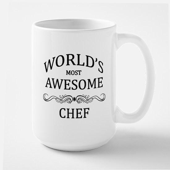 World's Most Awesome Chef Large Mug