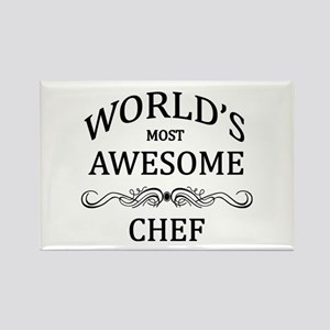 World's Most Awesome Chef Rectangle Magnet