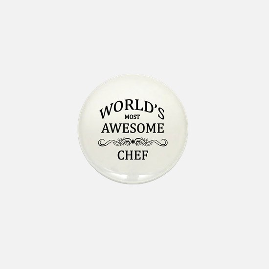 World's Most Awesome Chef Mini Button (100 pack)
