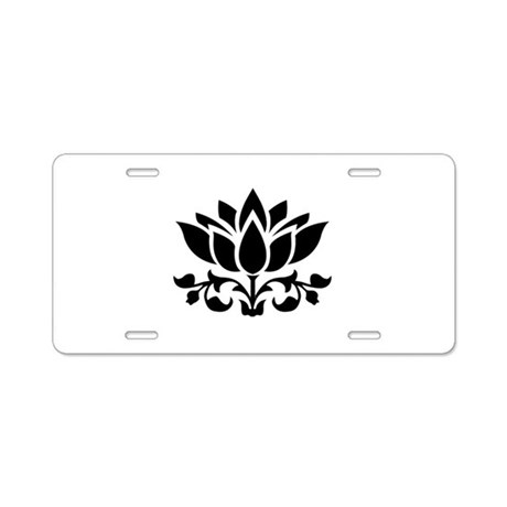 lotus flower aluminum license plate by admin cp127472348