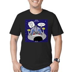 GPS in Space Men's Fitted T-Shirt (dark)