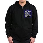 GPS in Space Zip Hoodie (dark)