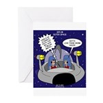 GPS in Space Greeting Cards (Pk of 10)