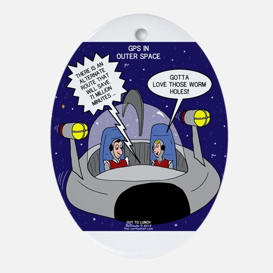 GPS in Space Ornament (Oval)