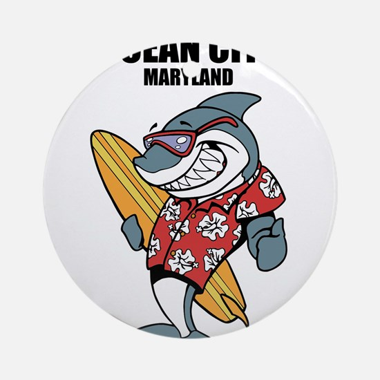 Ocean City, Maryland Ornament (Round)