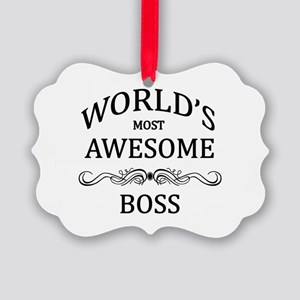 World's Most Awesome Boss Picture Ornament