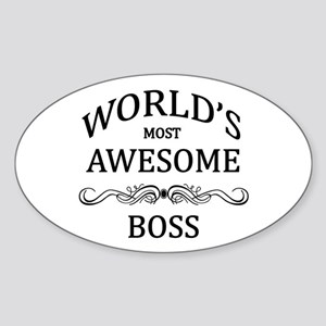 World's Most Awesome Boss Sticker (Oval)