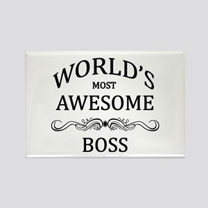 World's Most Awesome Boss Rectangle Magnet
