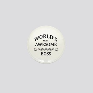 World's Most Awesome Boss Mini Button