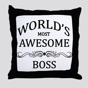 World's Most Awesome Boss Throw Pillow