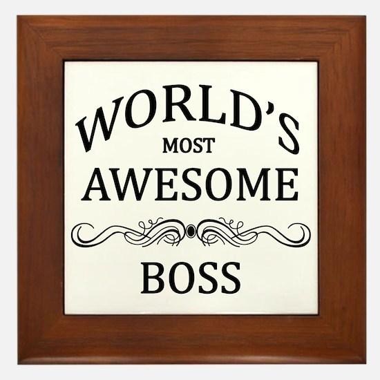 World's Most Awesome Boss Framed Tile