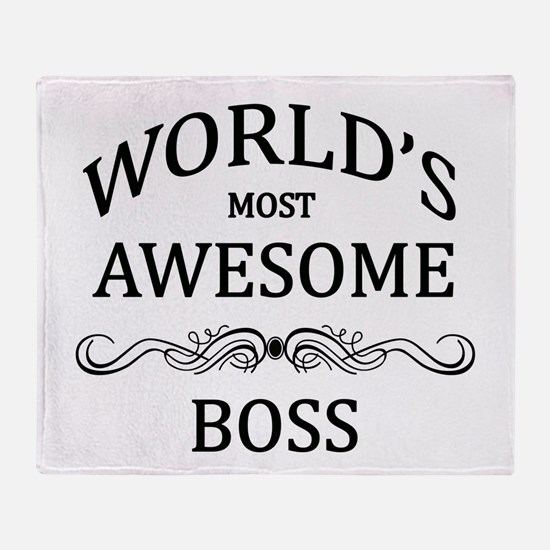 World's Most Awesome Boss Throw Blanket
