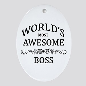 World's Most Awesome Boss Ornament (Oval)