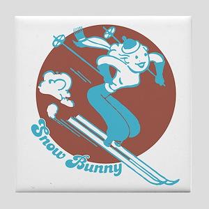 Snow Bunny Tile Coaster