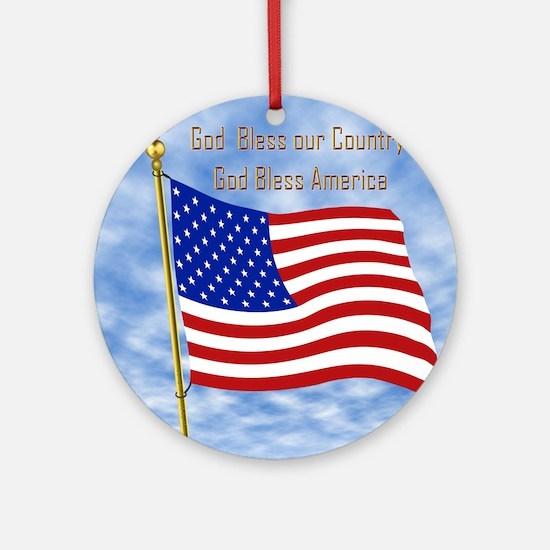 God Bless America 1 Ornament (Round)