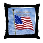 God Bless America 1 Throw Pillow